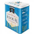 Scatola L Tin Box L Flour, 14x20x10 cm