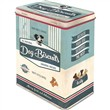 Scatola L Tin Box L PfotenSchild - Dog Biscuits, 14x20x10 cm