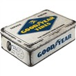 Scatola bassa Tin Box Flat Goodyear - Logo White