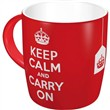 Tazza in ceramica Mugs Keep Calm and Carry On, 9x9x9 cm