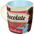 Tazza in ceramica Mugs Chocolate Doesn't Ask, 9x9x9 cm