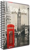 Quaderno maxi A4 con spirale Cartomania Metropol a righe Londra London Phonebox