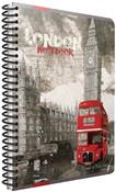 Quaderno maxi A4 con spirale Cartomania Metropol a righe Londra London Bus