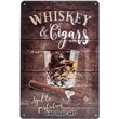 Cartello Tin Sign 20 x 30cm Whiskey, 30x0x20 cm