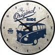 Orologio Wall Clock VW Bulli - The Original Ride, 31x6x31 cm