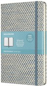 Taccuino Moleskine Blend 19 Limited Collection large a righe blu. Blue