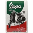 Cartello In Lamiera Vespa - The Italian Classic