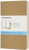 Quaderno Cahier Journal Moleskine pocket puntinato bianche beige. Kraft Brown. Set da 3