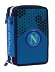 Astuccio accessoritato 3 zip Napoli, Blue Aster - 12,5x19,5x7 cm