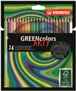 Matita colorata Ecosostenibile STABILO GREENcolors ARTY - Astuccio 24 pastelli colori assortiti