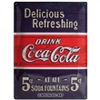 Cartello Tin Sign 30 x 40cm Coca-Cola - Delicious Refreshing Blue, 40x0x30 cm