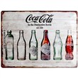 Cartello Tin Sign 30 x 40cm Coca-Cola - Bottle Timeline, 40x0x30 cm