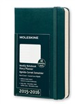 Moleskine agenda 18 mesi  Weekly Notebook  Pocket  Copertina rigida Verde marea