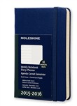 Moleskine agenda 18 mesi  Weekly Notebook  Pocket  Copertina rigida Blu royal