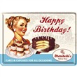 Cartolina metallica Metal Card Happy Birthday Cake, 14x0x10 cm