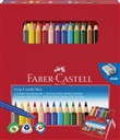 Combi Box Faber-Castell con 12 matite colorate Jumbo Grip + 10 Grip Colour Marker + temperamatite