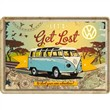 Cartolina metallica Metal Card VW Bulli - Let's Get Lost, 14x0x10 cm