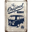 Cartolina metallica Metal Card VW Bulli - The Original Ride, 14x0x10 cm