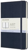 Album per schizzi Art Sketchbook Moleskine medium copertina rigida blu. Sapphire Blue