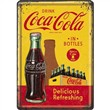 Cartolina metallica Metal Card Coca-Cola - In Bottles Yellow, 14x0x10 cm