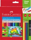 Matite colorate Faber-Castell. Promo Pack 18 matite colorate triangolari + 4 matite colorate + 2 matite di grafite