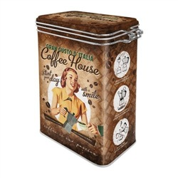 Scatola con chiusura ermetica Clip Top Box Coffee House, 11x18x8 cm