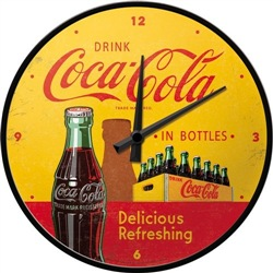 Orologio Wall Clock Coca-Cola - In Bottles Yellow, 31x6x31 cm