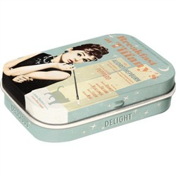 Scatolina mentine Mint Box Breakfast at Tiffany's Blue, 6x2x4 cm