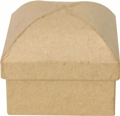 DECOPATCH Scatola con cupola 6X6 cm Kraft 5,50 x 5,50 x 6