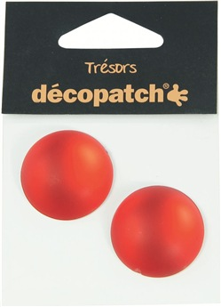 DECOPATCH 2 gemme 3 cm - rosso Rosso 10 x 7,20 x 0,50