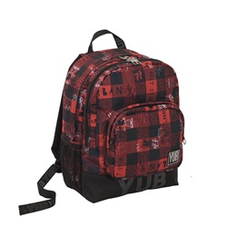 Zaino Doppio Scomparto YUB Urban Check Brillant Red - 31x42x18 cm