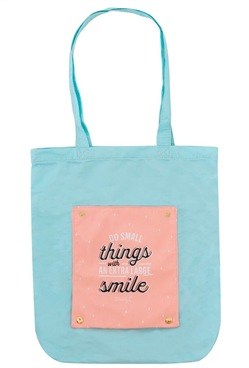 Borsa Tota Bag pieghevole Mr Wonderful. Do small things with an extra large smile
