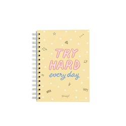 Notebook piccolo- Try hard every day 22x2x15 - MR WONDERFUL
