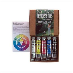 MAIMERI Tempera fine scatola in cartone primary set 5 tubi 20ml