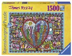 Ravensburger 16295 James Rizzi: All that love in the middle of the city Puzzle 1500 pezzi