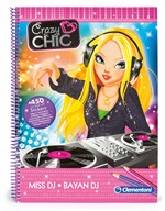 Clementoni 15933 Crazy Chic Sketchbook DJ