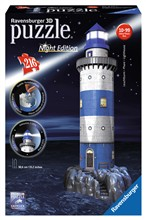 Ravensburger 12577 Faro Night Edition 3D Puzzle 216 pezzi