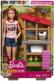 Barbie Carriere Fattoria dei Polli. Playset con Bambola. Galline. Polli e Accessori