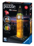 Ravensburger 3D Puzzle Building Night Edition - Big Ben