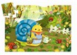 Djeco - Snail goes plant picking 24 pcs - 26 x 22 x 6 cm