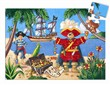 Djeco - The pirate and his treasure 36 pcs - 19 x 29,5 x 6 cm