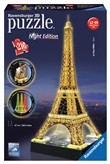 Ravensburger 12579 Torre Eiffel Night Edition 3D Puzzle 216 pezzi