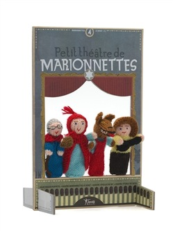 Cappuccetto Rosso: burattini di lana - Petit Chaperon Rouge: Wool Finger Puppets