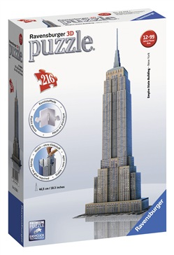 Ravensburger 12553 The Empire State Building 3D Puzzle 216 pezzi