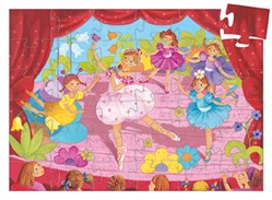Image of Djeco - The ballerina with the flower 36 pcs - 19,5 x 29 x 6 cm