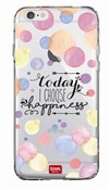 Cover per iPhone 6 Clear Case. Happiness